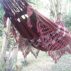 Rede de Descanso Florada Tradição Tam. 1,50 x 3,30 Linha - Arte Mineira Artesanatos em tear manual